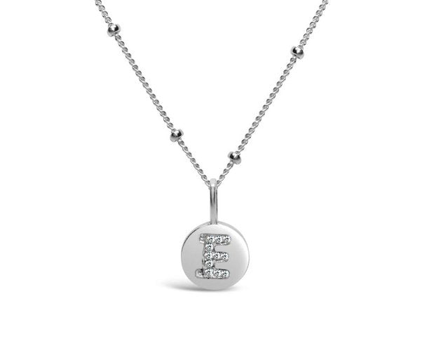 Stia Sterling Silver Love Letters Necklace in E
