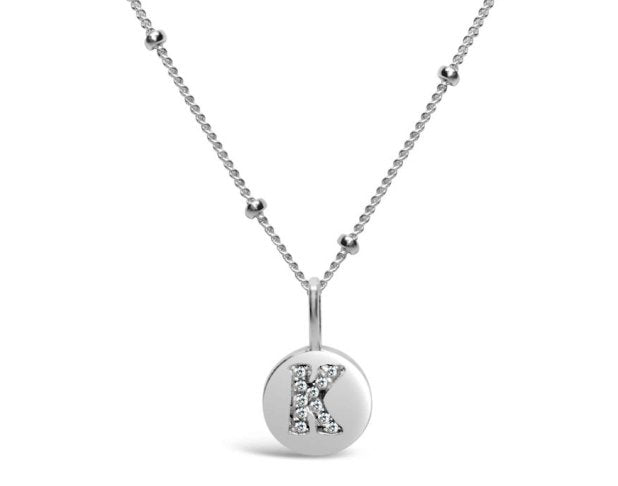 Stia Sterling Silver Love Letters Necklace in K