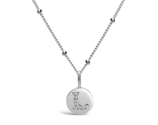 Stia Sterling Silver Love Letters Necklace in L