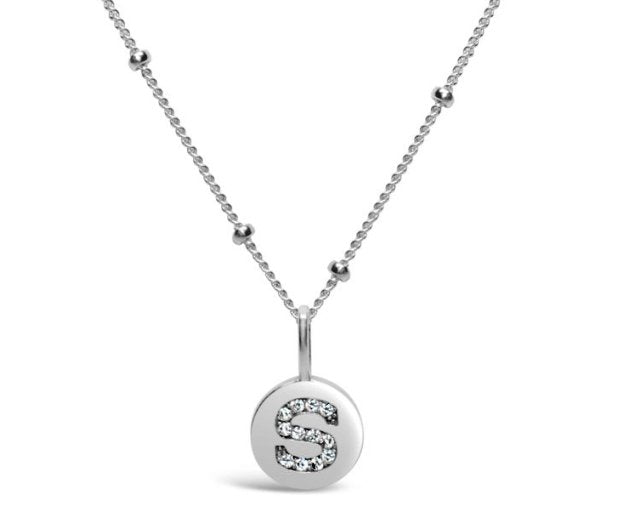Stia Sterling Silver Love Letters Necklace in S
