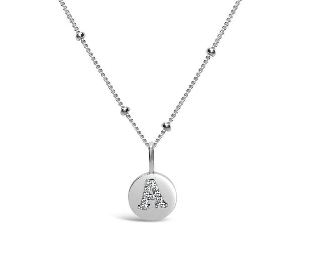 Stia Sterling Silver Love Letters Necklace in A