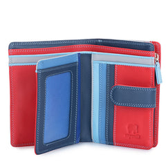 Mywalit Medium Leather Snap Wallet in Royal
