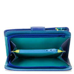 Mywalit Medium Leather Snap Wallet in Seascape