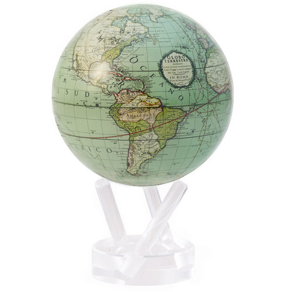 Sea Foam Green Cassini Map MOVA Globe