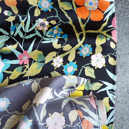 liberty of london belgravia silk satin pavilion dark floral