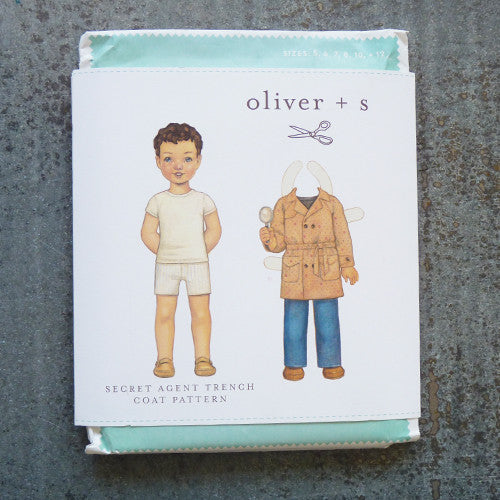oliver + s secret agent trench coat sewing pattern front