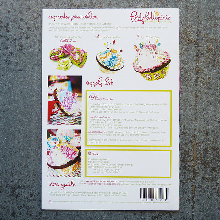 Portobellopixie Patterns : Cupcake Pincushion Thumbnail