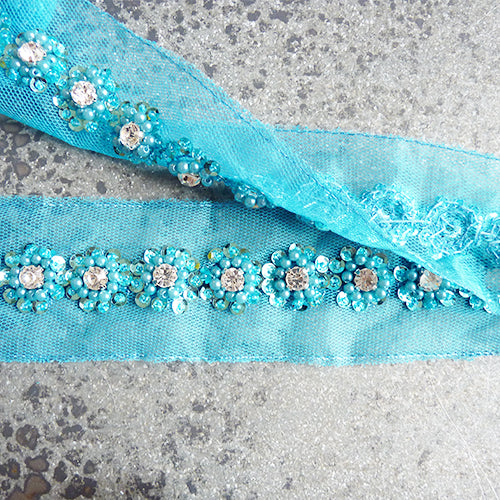 beaded flower trim