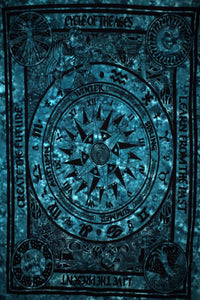 Deep Blue Cycle Of The Ages Tapestry