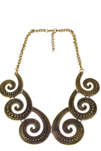 Antique Six Spirals Statement Necklace