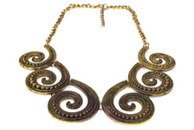 Load image into Gallery viewer, Antique Six Spirals Statement Necklace | Wild Lotus