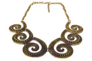 Antique Six Spirals Statement Necklace | Wild Lotus