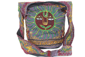 Purple Happy Sun Jhola Bag