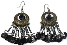 Load image into Gallery viewer, Black Carnival Gypsy Earrings