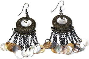 Sea Shell Carnival Gypsy Earrings