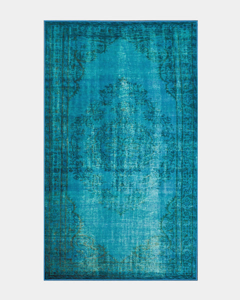 Blue Overdyed Moroccan Rug - Hesby