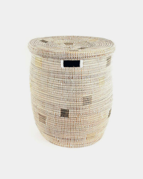 White Pixel Laundry Hamper - Hesby