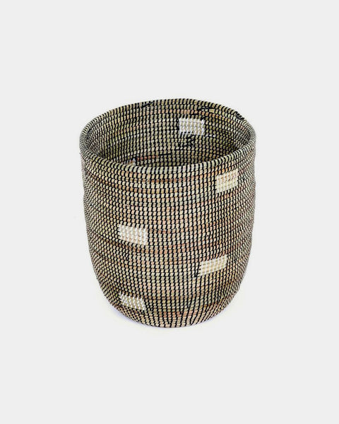 Tall Black Pixel Basket - Hesby