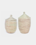 White Lidded Laundry Hamper - Hesby