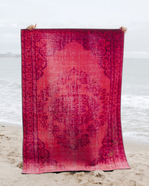 Pink Overdyed Moroccan Rug - Hesby