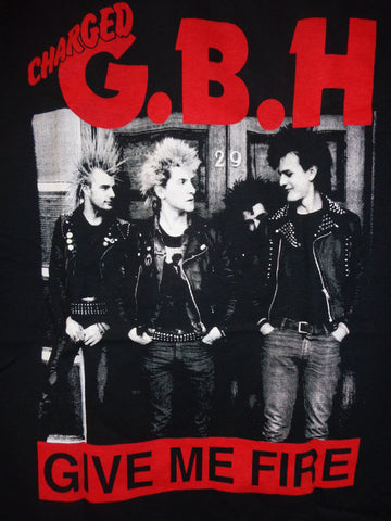 GBH Charged Give Me Fire tee black with band photo