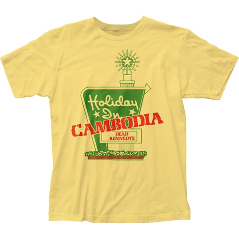 Dead Kennedys Holiday in Cambodia yellow tshirt