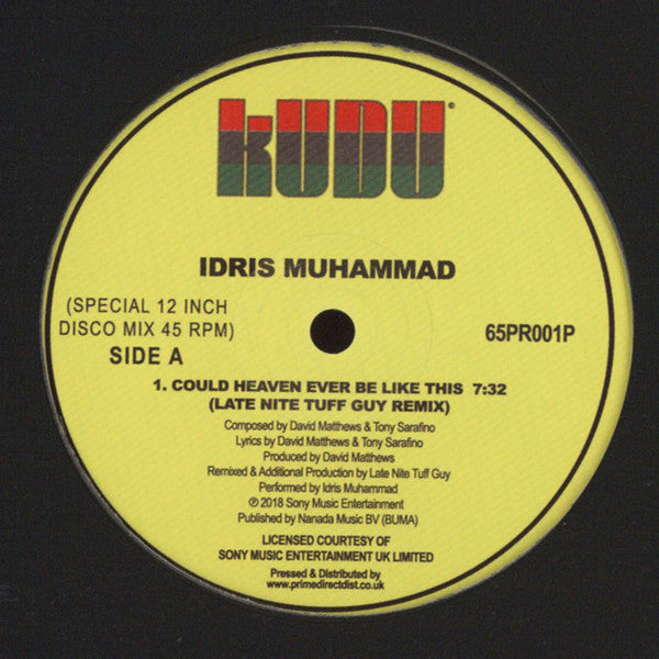 Idris Muhammad ‎– Could Heaven Ever Be Like This - Kudu ‎– 65PR001P