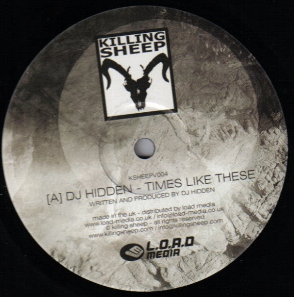 "DJ Hidden / Numek ‎– Times Like These / Organic Dub 12"" Killing Sheep Records KSHEEPV004"
