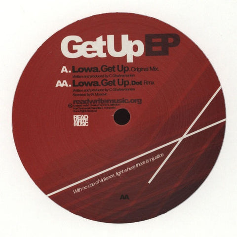 "LOWA - Get Up EP 12"" RWM001 Read Write Music"