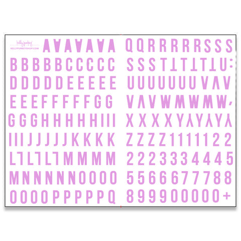 6x8 Purple Alphabet Stickers