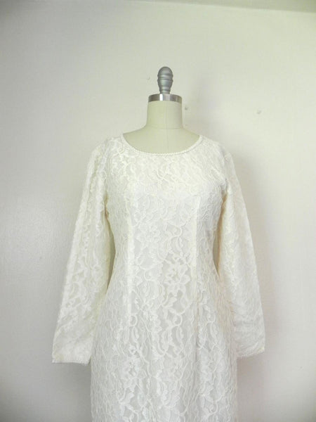 Vintage 1960s White Lace Dress - Vintage World Rocks - 2