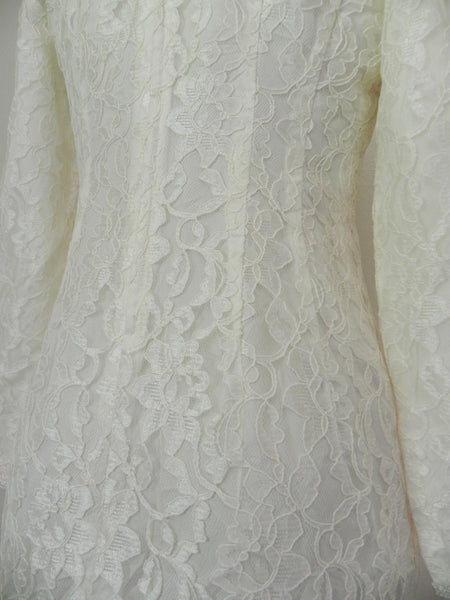 Vintage 1960s White Lace Dress - Vintage World Rocks - 7