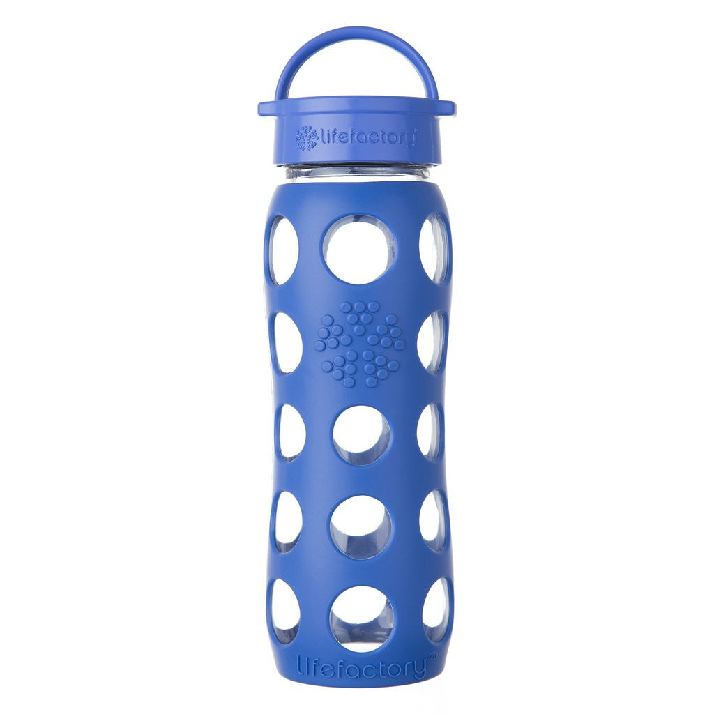 Lifefactory 22 oz / 650 ml Glass Bottle in Cobalt