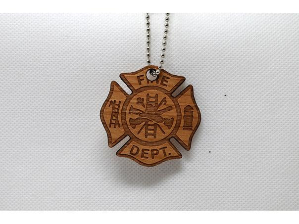 Keychain Fire Dept Emblem KC-026 Laser Cut Shape