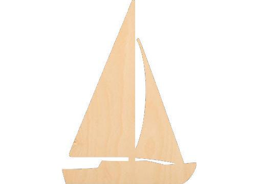 Sailboat 1 - Laser Cut Shapes - Sports-Vehicles