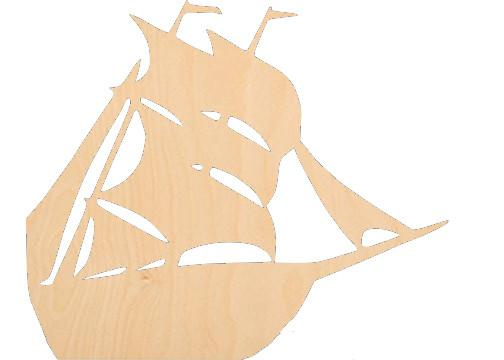 Sailboat 2 - Laser Cut Shapes - Sports-Vehicles
