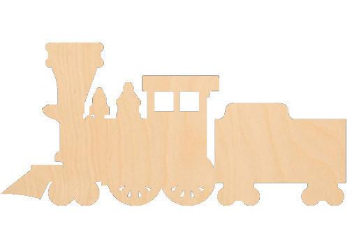 Train with Coal Car - Laser Cut Shapes - Sports-Vehicles