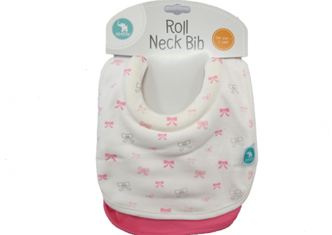 Bib Roll Neck Bow