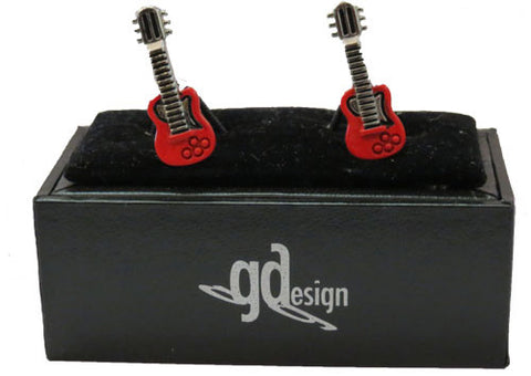 Cufflinks Guitar Red