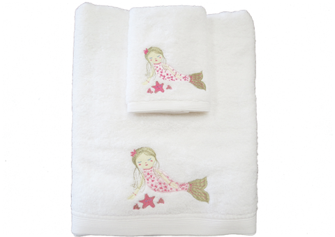 Towel and Face Washer Set Mermaid