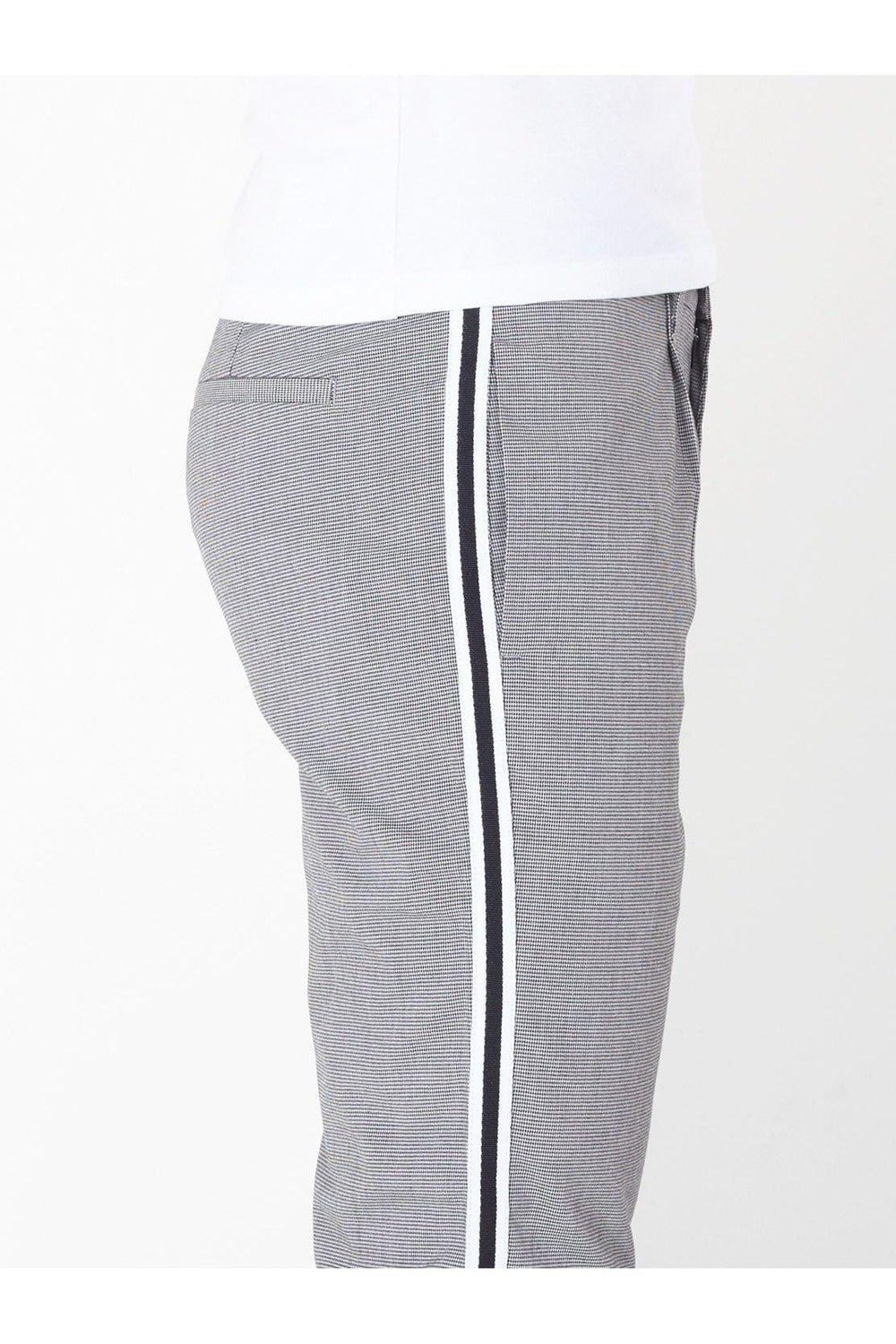 Jersey - Skinny Check Trousers Stripe Grey