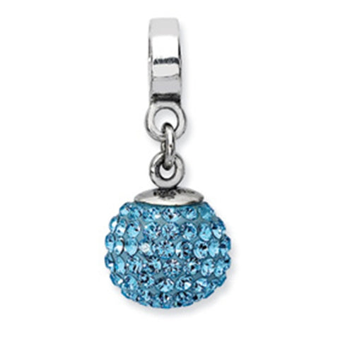 March Swarovski Birthstone Dangle