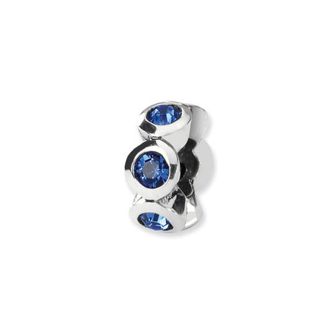 September Swarovski 6-Stone Bead