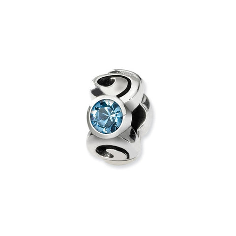 March Swarovski 3-Stone Bead