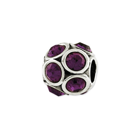 February Swarovski Birthstone Bead