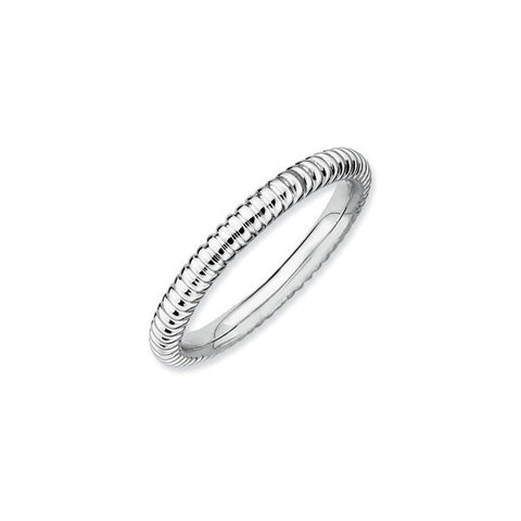 Ribbed Pattern Spacer Ring