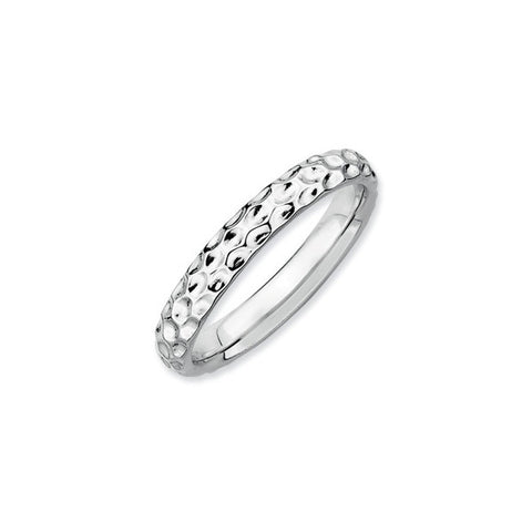 Hammered Pattern Spacer Ring