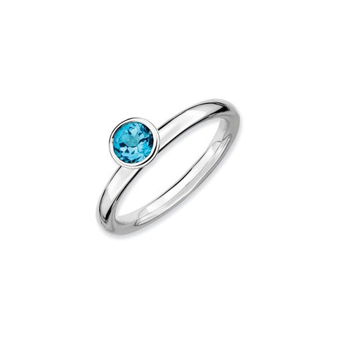 Mothers Stackable Birthstone Ring - High Profile