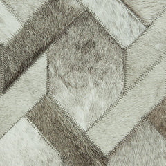 Crossed GRY Cowhide Rug