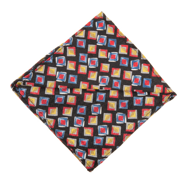 Tiles Print Pocket Square